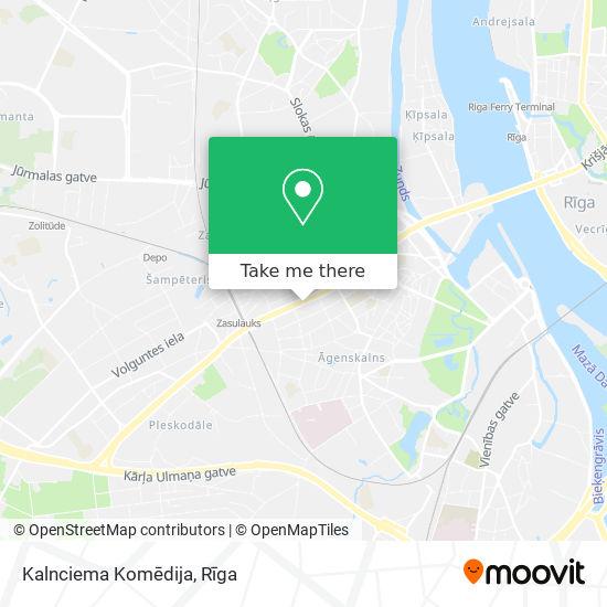 Kalnciema Komēdija map