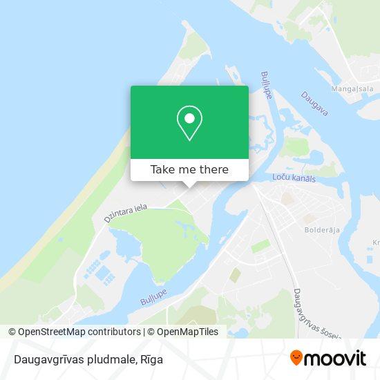 Daugavgrīvas pludmale map