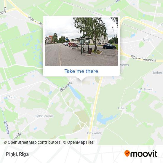 Piņķi map
