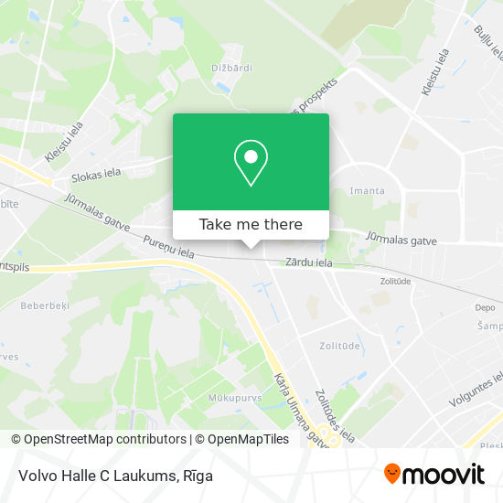 Volvo Halle C Laukums map