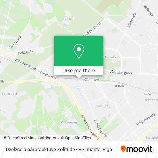 Dzelzceļa pārbrauktuve Zolitūde <--> Imanta map