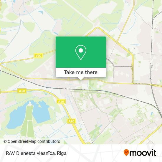 RAV Dienesta viesnīca map