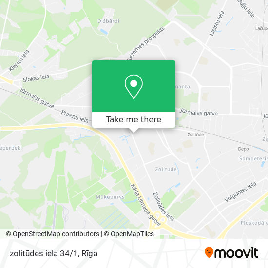 zolitūdes iela 34/1 map