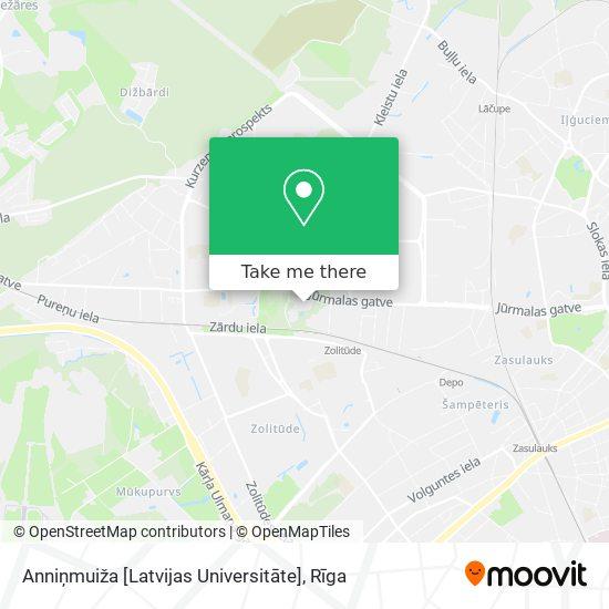 Anniņmuiža [Latvijas Universitāte] map