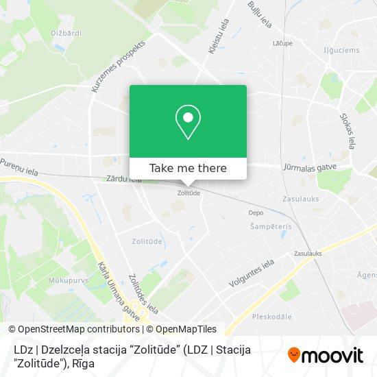 """LDz   Dzelzceļa stacija """"Zolitūde"""" (LDZ   Stacija """"Zolitūde"""") map"""