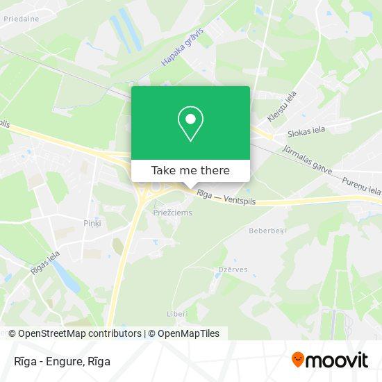 Rīga - Engure map