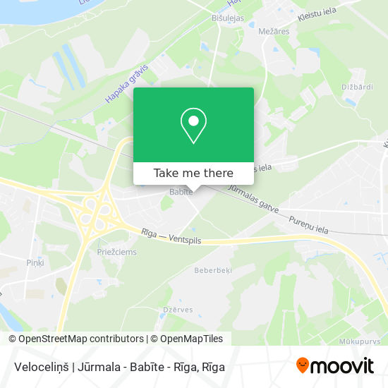 Veloceliņš | Jūrmala - Babīte - Rīga map