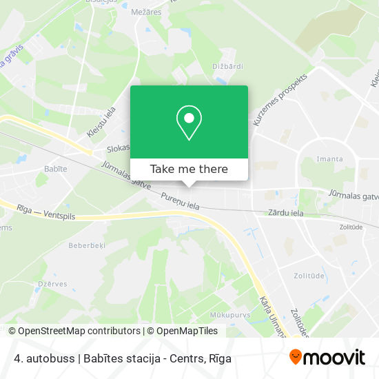 4. autobuss   Babītes stacija - Centrs map
