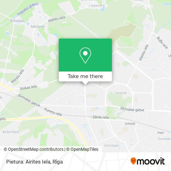 Pietura: Airites Iela map