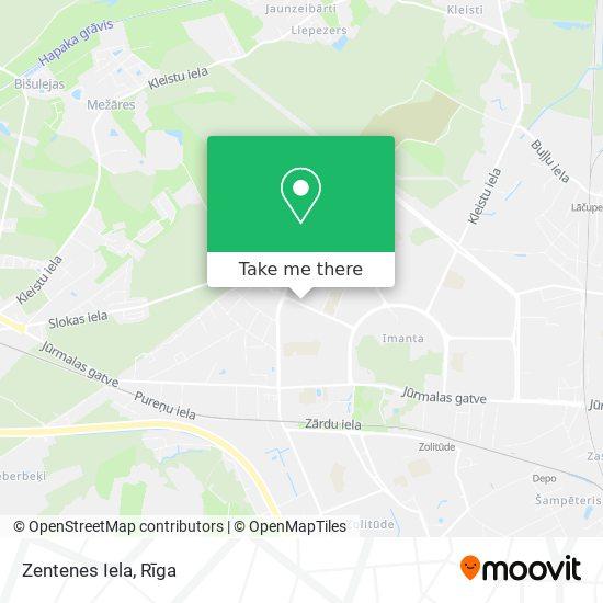 Zentenes Iela map