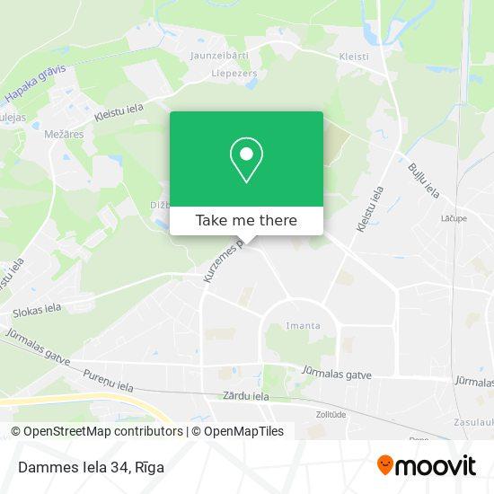 Dammes Iela 34 map