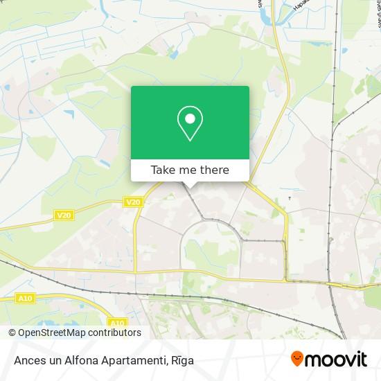 Ances un Alfona Apartamenti map