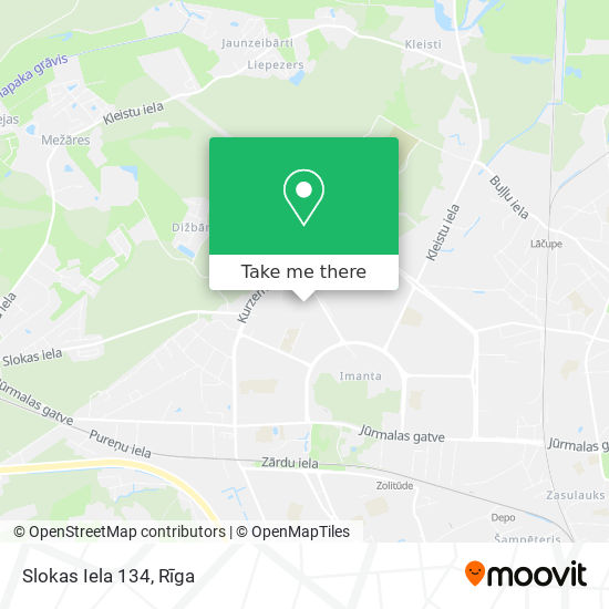 Slokas Iela 134 map