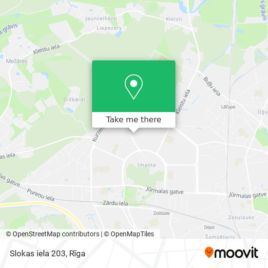 Slokas iela 203 map