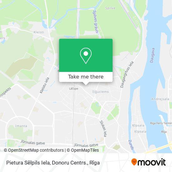 Pietura Sēlpils Iela, Donoru Centrs. map