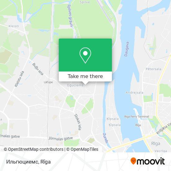 Ильгюциемс map