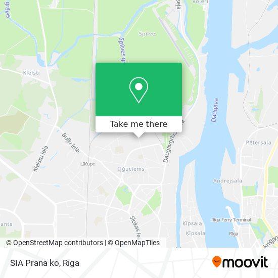 SIA Prana ko map