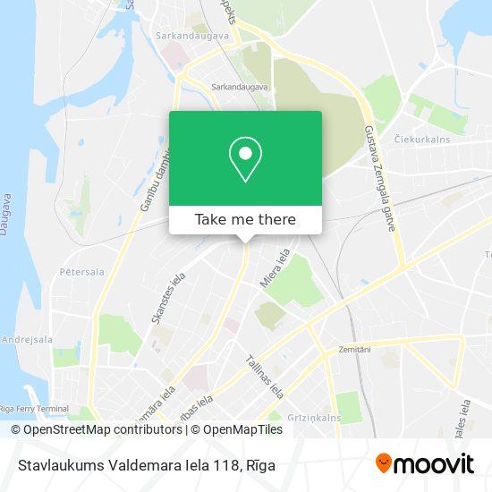 Stavlaukums Valdemara Iela 118 map