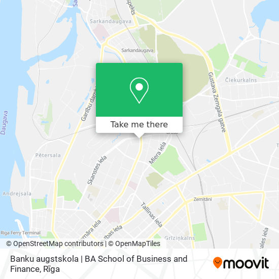 Banku augstskola   BA School of Business and Finance map