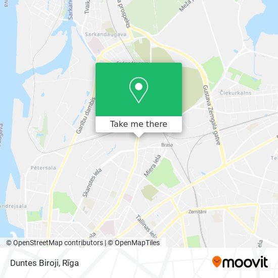 Duntes Biroji map