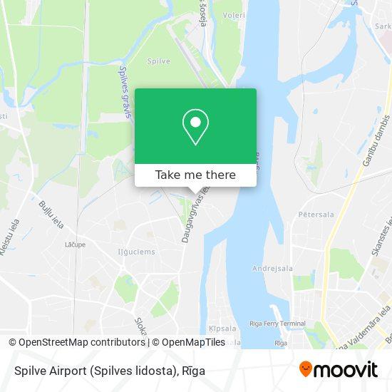 Spilve Airport (Spilves lidosta) map
