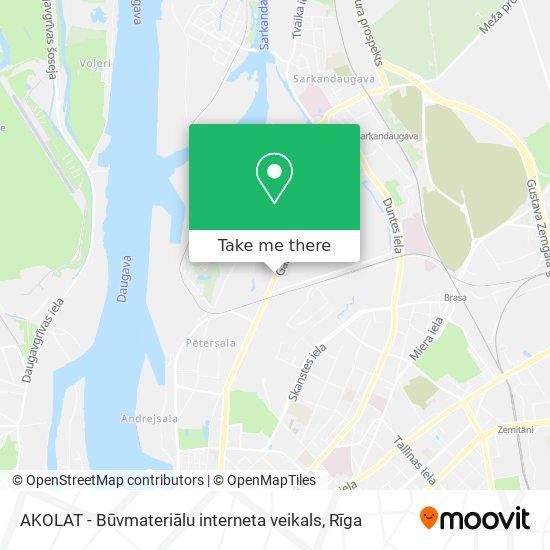 AKOLAT - Būvmateriālu interneta veikals map