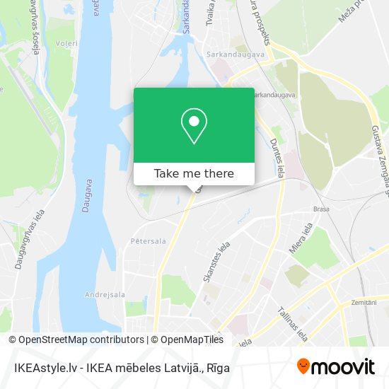 IKEAstyle.lv - IKEA mēbeles Latvijā. map