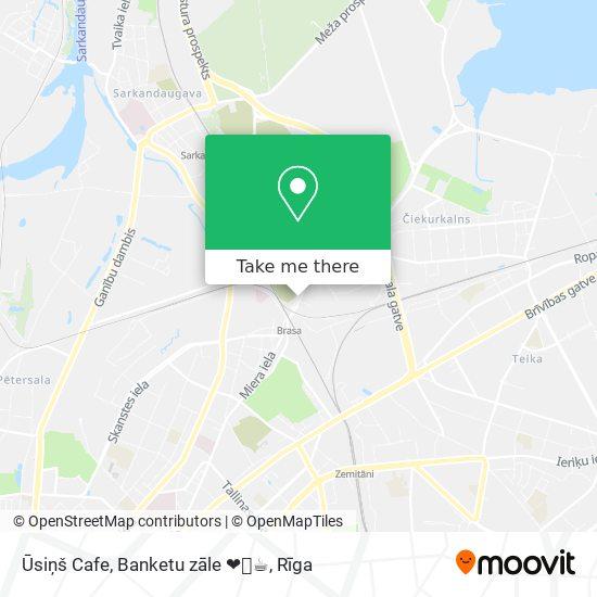Ūsiņš Cafe, Banketu zāle ❤️🍝☕️ map
