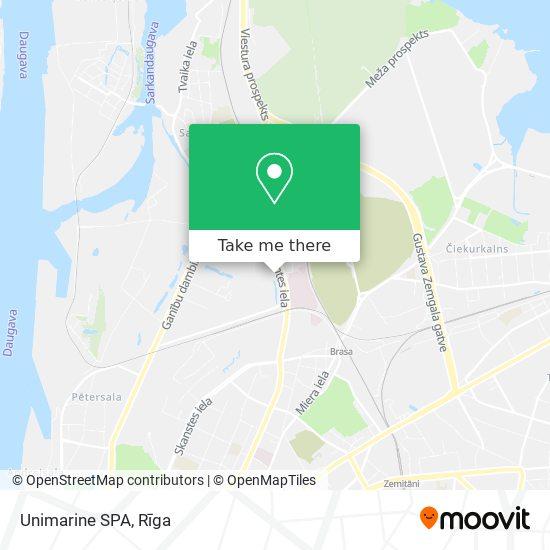Unimarine SPA map