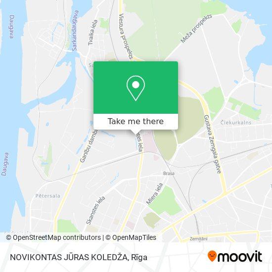 NOVIKONTAS JŪRAS KOLEDŽA map