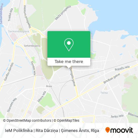IeM Poliklīnika   Rita Dārziņa   Ģimenes Ārsts map