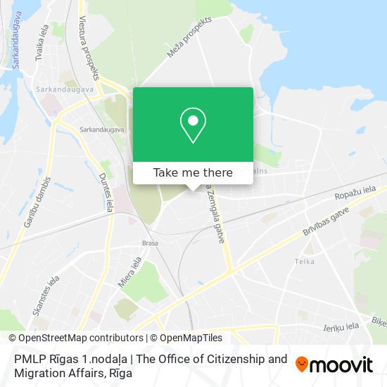 PMLP Rīgas 1.nodaļa | The Office of Citizenship and Migration Affairs map