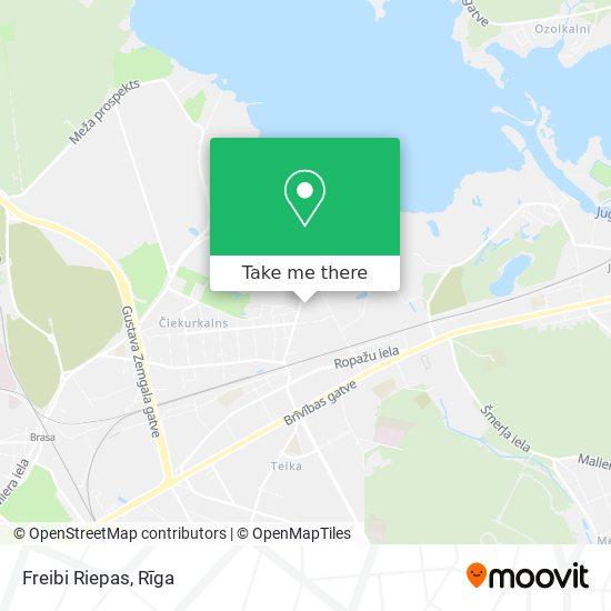 Freibi Riepas map
