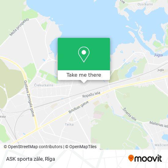 ASK sporta zāle map