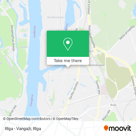 Rīga - Vangaži map