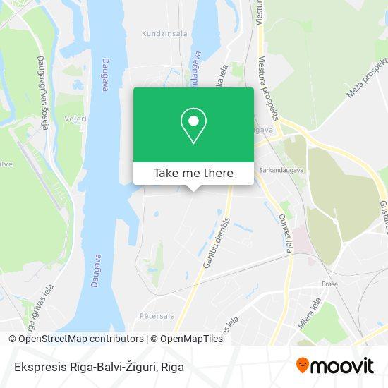 Ekspresis Rīga-Balvi-Žīguri map