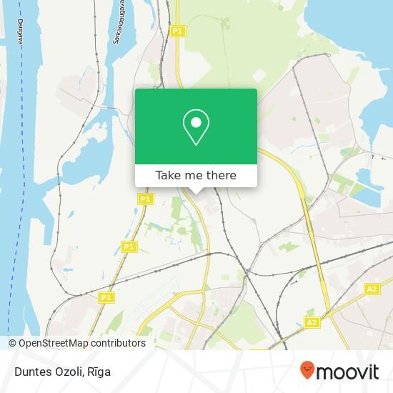 Duntes Ozoli map