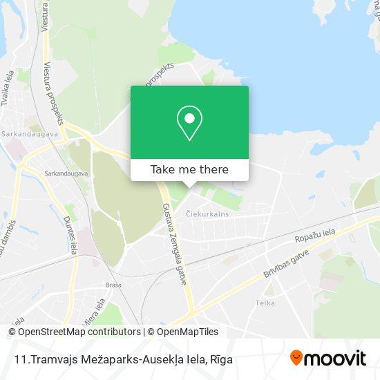 11.Tramvajs Mežaparks-Ausekļa Iela map