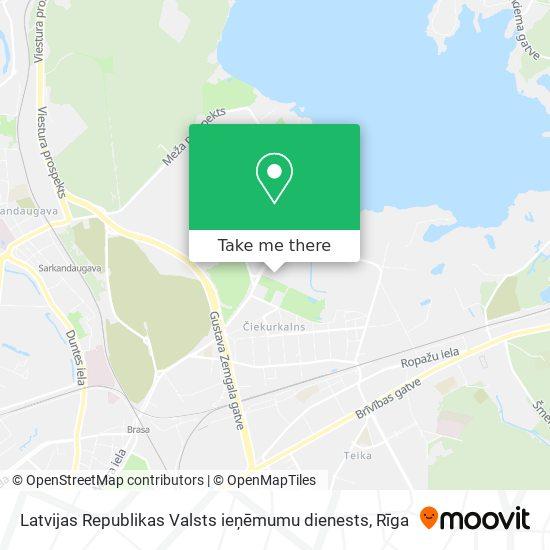Latvijas Republikas Valsts ieņēmumu dienests map
