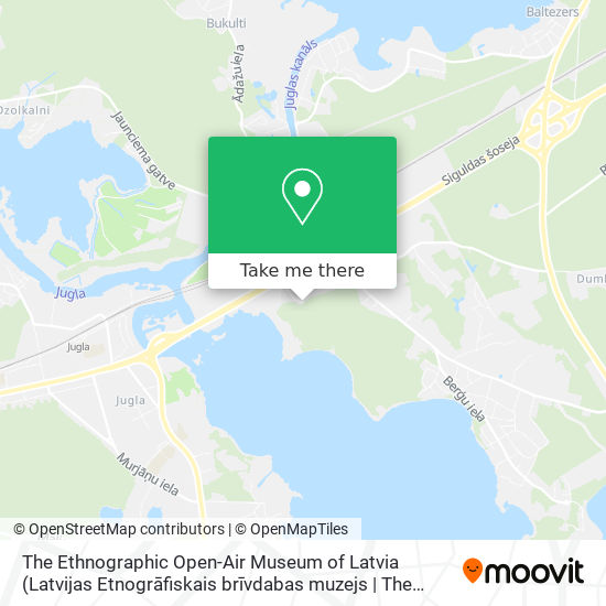 The Ethnographic Open-Air Museum of Latvia map
