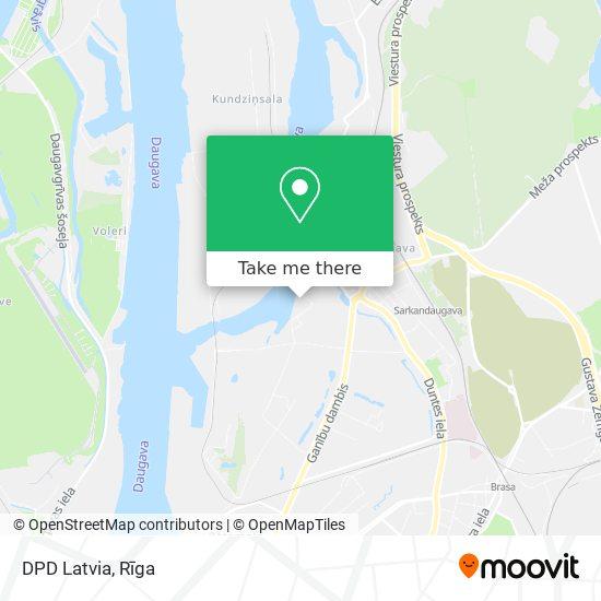 DPD Latvia map