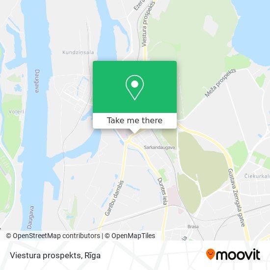 Viestura prospekts map
