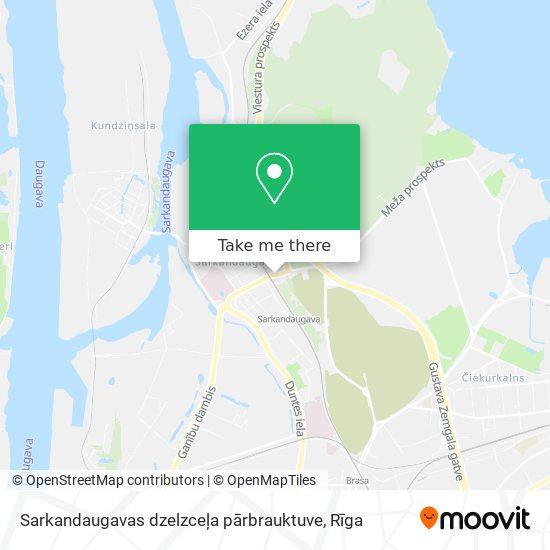 Sarkandaugavas dzelzceļa pārbrauktuve map