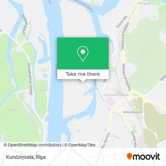 Kundziņsala map