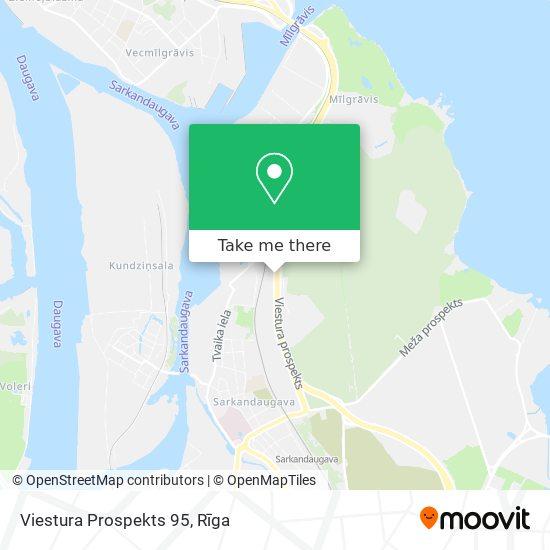 Viestura Prospekts 95 map