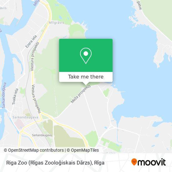 Riga Zoo (Rīgas Zooloģiskais Dārzs) map