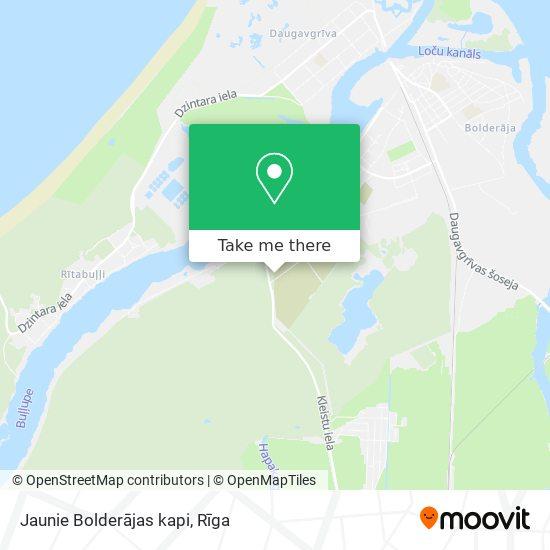 Jaunie Bolderājas kapi map