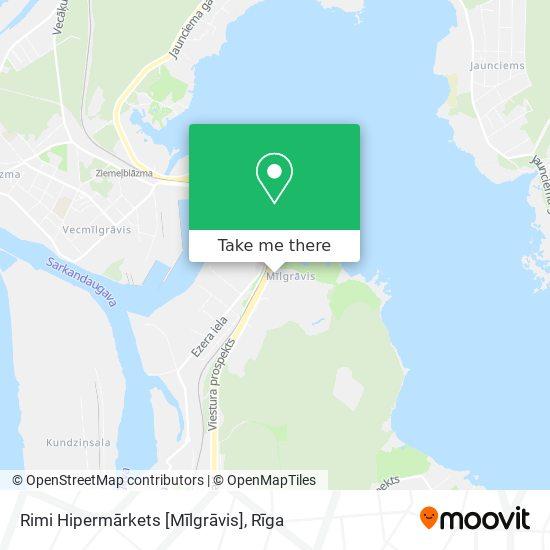Rimi Hipermārkets [Mīlgrāvis] map