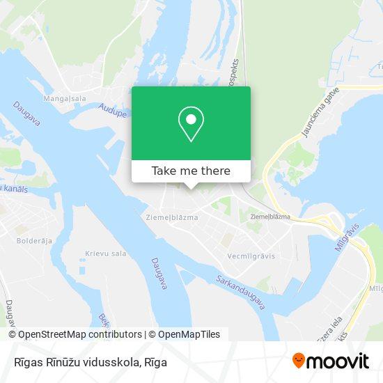 Rīgas Rīnūžu vidusskola map