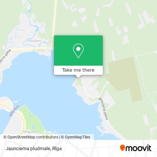 Jaunciema pludmale map